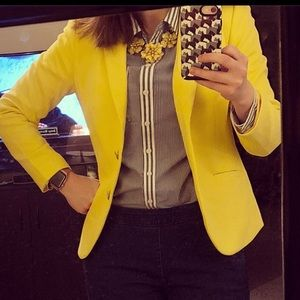 Talbots spring yellow blazer
